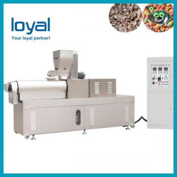 Automatic Twin Screw Extruder Sugar Coated Crunchy Corn Flakes Cereal Processing Equipment